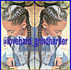 Two Goddess Braids Styles Idea goddess braid braided hairstyles natural hair styles Two Goddess Braids Styles. Here is Two Goddess Braids Styles Idea for you. Two Goddess Braids Styles 55 of the most stunning styles of the goddess bra. Box Braids Hairstyles, African Hairstyles, Two Cornrow Braids, Plaits, Black Hairstyles, Fulani Braids, Dreadlock Hairstyles, Long Braids, Braided Updo