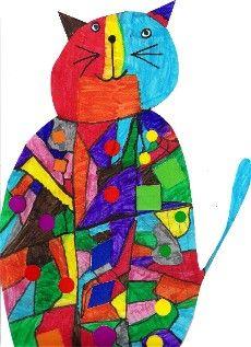 Arts Visuels Ecole PS MS GS CP CE1 CE2 CM1 CM2 : animaux géométriques