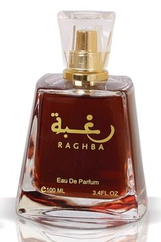 Raghba by Lattafa Perfumes is a balsamic, sweet, smoky and powdery Oriental Vanilla fragrance featuring oud, musk, vanilla, sugar, sandalwood and incense. - Fragrantica