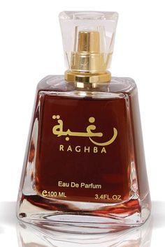 Raghba by Lattafa Perfumes is a balsamic, sweet, smoky and powdery Oriental Vanilla fragrance featuring oud, musk, vanilla, sugar, sandalwood and incense. - Fragrantica