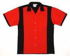 Opentip.com: Cruisin' USA Custom RBSRBBNK Red & Black Retro Bowler Bowling Shirt