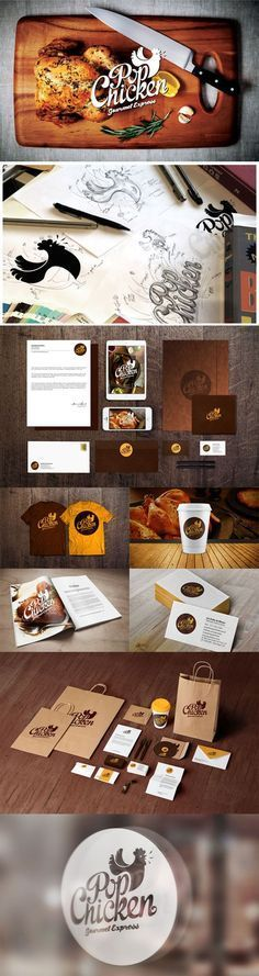 """Pop Chicken"" - 55 Brand Identity Design Examples for Restaurant 