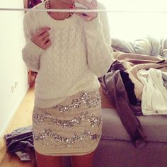 cozy and sparkly