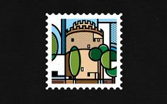 This stamp collection is a self initiated project that aims to show the beautiful side of Greece in an illustrative abstract style.