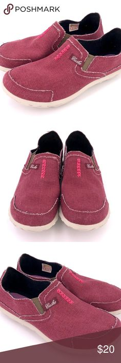 7ee2c45e2dc1 Cushe Women s Slipper II Canvas Slip On Shoes Wine Item in very good