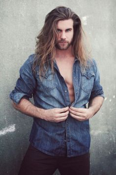 Photography by Eric McKinney: The LA / Hollywood Collection: Brock O'Hurn - Set 1 Brock Ohurn, Gorgeous Men, Beautiful People, Long Beards, Man Bun, Hot Actors, Male Beauty, Cute Guys, Male Models