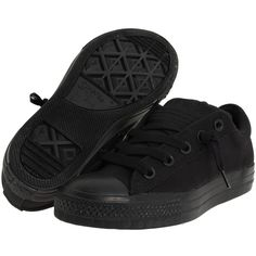 Converse Kids Chuck Taylor® All Star® Street Ox (Little Kid/Big Kid) (310 SEK) ❤ liked on Polyvore featuring babie, black mono and sneakers & athletic shoes