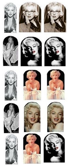 Marilyn Monroe Nail Decals by IrocHipHopNailDecals on Etsy