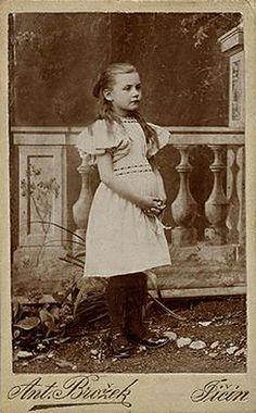 Antique photograph of young girl   Photographer Antonín Brožek in Jičín (Bohemia, Czechia). CDV.   josefnovak33 on Flickr