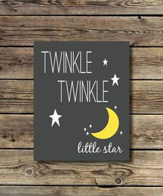 8x10 -  Twinkle Twinkle Little Star -grey, yellow & white  INSTANT DIGITAL DOWNLOAD Star Nursery, Nursery Room, Twinkle Twinkle Little Star, Grey Yellow, Gray Background, All Print, Own Home, Graduation, Stars