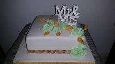 Mint groene rozen bruidstaart