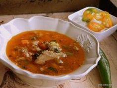Lucky Cake, Pork Recipes, Cooking Recipes, Pork Soup, Romanian Food, Romanian Recipes, Goulash, Soup And Salad, Thai Red Curry