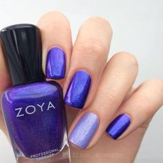 Zoya Nail Polish in Isa with Aster accent(more purple irl Isa is the metallic version of Serenity)