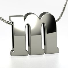 Sterling Silver Initial Necklace - Perspective