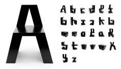ABChairs. Roeland Otten di Rotterdam, con l'aiuto di Fonds BKVB e Materiaalfonds, ha realizzato ABChairs, una serie di 26 sedie in MDF laccato a forma di lettera dell'alfabeto. Foto di Bas Helbers Via designerblog.it