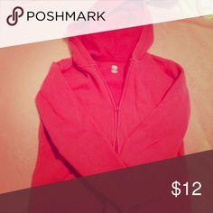 Pink Zip Up Hoodie Pink Zip Up Hoodie. Size Small. Tops Sweatshirts & Hoodies