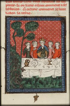 The feast of Ahasuerus: Queen Vashti gives a banquet for the women  - Click photo for more images - National Library of the Netherlands