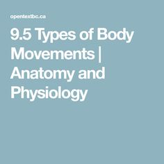 9.5 Types of Body Movements | Anatomy and Physiology