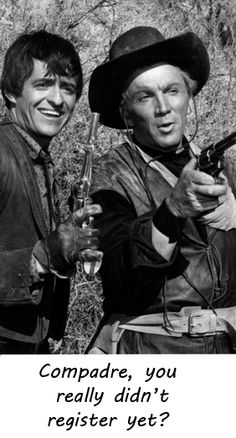 Henry Darrow & Cameron Mitchell in The High Chaparral