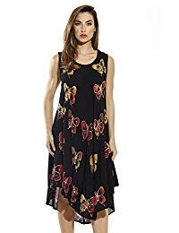 Riviera Sun Black Cover Up Dress with Colorful Batik Patterns for Women Womens Fashion Stores, Fashion Sale, Fashion 101, Black Cover Up, Batik Pattern, Beautiful Summer Dresses, Dress Collection, Cold Shoulder Dress, Clothes For Women