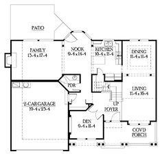 Floor Plans AFLFPW03487 - 2 Story Craftsman Home with 3 Bedrooms, 2 Bathrooms and 2,250 total Square Feet