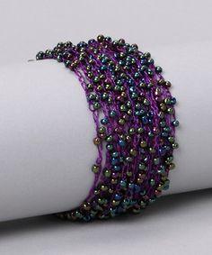 Purple Crochet Bracelet