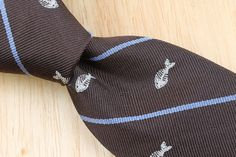 HICKEY Freeman Dark Brown Striped FISH BONES Skinny mens Silk Tie #HickeyFreeman #NeckTie