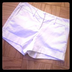 New York & Company shorts Great pair of white shorts. Worn only 4 times. No stains, rips, or snags. They Still have life to them. New York & Company Shorts