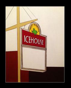 West Alabama Ice House - Acrylic on Canvas