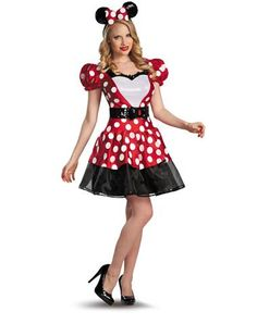 Disney Minnie Mouse Glam Adult Womens Costume