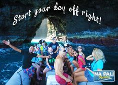 Touring the sea caves of Kauai and snorkeling later at Tunnels Beach! Na Pali Riders Raft Tours is the one to make it happen. Day Off, Kauai, Caves, Rafting, Snorkeling, Touring, Whale, Coast, Ocean