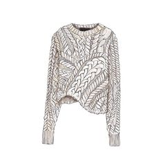 "Good objects ""Isabel Marant"" Interesting illustration style for knits, shows lots of details Knitwear Fashion, Knit Fashion, Fashion Art, Fashion Design Drawings, Fashion Sketches, Dress Sketches, Drawing Fashion, Isabel Marant, Pull Torsadé"