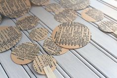 Vintage Dictionary Paper Garland 3m or 6m by ALittleBitOfLemon