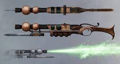 The Incredible Adventures of Van Helsing II Concept Art Show Off Swords and Rifles