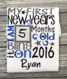 My First New Years Milestone Shirt or by LilStytchesBoutique