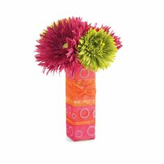 Cube Vase with Flowers- party