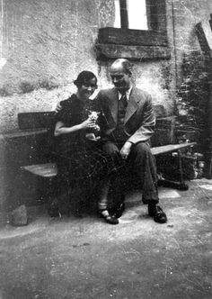 Theresienstadt, Czechoslovakia, Trude Oppenheim & Hans Oppenheim.