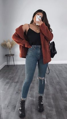Trendy Fall Outfits, Winter Fashion Outfits, Retro Outfits, Mode Outfits, Cute Casual Outfits, Simple Outfits, Stylish Outfits, Mode Für Teenies, Mode Instagram