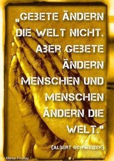 Beten für die Bewegung: