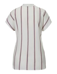 Gestreifte Sommerbluse, weiss/multicolor, weiss | MADELEINE Mode Österreich Short Sleeve Dresses, Dresses With Sleeves, Button Down Shirt, Men Casual, Shirts, Mens Tops, Fashion, Fall Season, Stripes