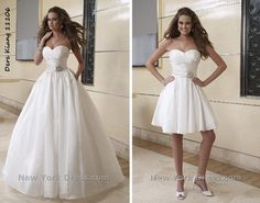 Wedding dress from long to short for the reception!:)