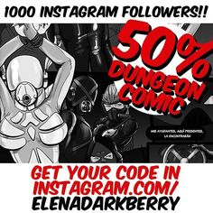 1000 followers!! Thanks so much. For all of you 50% in my nsfw rubber porn fetish comic.  #1000followers #discount #comicporn #comic #fetish #latex #rubber #gasmaskgirl #gasmask #breathplay #hëntai # #tm #fb #tw #pn Follow me on Instagram: @elenadarkberry