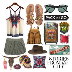 """""""Mexico City ✈️✈️✈️"""" by kaliforniakatie ❤ liked on Polyvore featuring Madewell, Laidback London, Yves Saint Laurent, Ray-Ban, Dolce&Gabbana, Stetson, NOVICA, Blissliving Home, Our Exquisite Corpse and Lime Crime"""