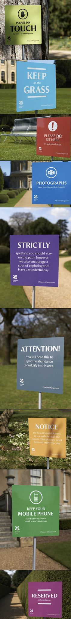 National Trust and Click Design signage