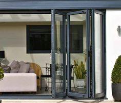 Grey Aluminium Beaufort Bifold doors