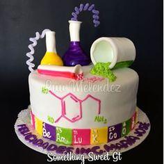 """Képtalálat a következőre: """"biology cake"""" Science Cake, Mad Science Party, Mad Scientist Party, Cupcake Party, Party Cakes, Cupcake Cakes, Chemistry Cake, Cakes For Boys, Themed Cakes"""