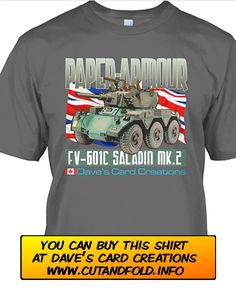 1/16 scale Saladin Armoured Car Paper Model...by Dave Winfield...www.papermodelshop.com