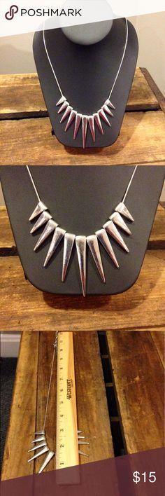 Silver spikes necklace Silver spikes necklace Jewelry Necklaces