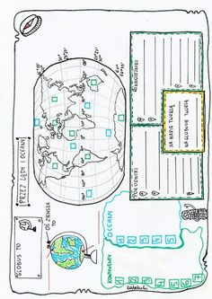 Geografia Map Geo, Back To School, High School, College Checklist, Geography Lessons, Teaching Materials, Hand Lettering, Homeschool, Bullet Journal