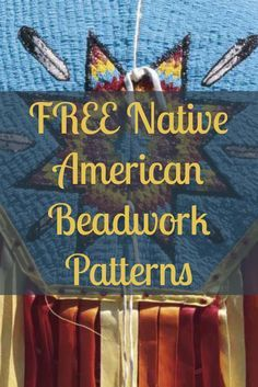Learn how to make Native American beadwork with these 4 FREE patterns! #beading #nativeamerican